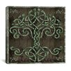 "<strong>iCanvasArt</strong> ""Celtic Tree Life"" Canvas Wall Art by Mindy Sommers"