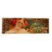 iCanvasArt 'Biscuits Lefevre Utile' by Alphonse Mucha Vintage Advertisement on Canvas