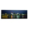 iCanvas Panoramic Buildings at the Waterfront Lit up at Night, Ohio River, Cincinnati, Ohio Photographic Print on Canvas