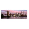 iCanvas Panoramic Brooklyn Bridge, Manhattan, New York City, New York Photographic Print on Canvas