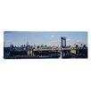iCanvasArt Panoramic Bridge over a River, Manhattan Bridge, Manhattan, New York City Photographic Print on Canvas