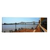 <strong>iCanvasArt</strong> Panoramic Crescent City Connection Bridge, Mississippi River, New Orleans, Louisiana Photographic Print on Canvas