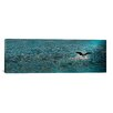 iCanvasArt Panoramic Bird Taking Off Over Water Photographic Print on Canvas