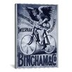 iCanvasArt Bincham and Co. Bicycle Vintage Advertisement on Canvas