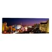 iCanvas Panoramic Buildings Lit up at Night Las Vegas, Nevada Photographic Print on Canvas