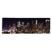 iCanvas Panoramic Buildings Lit up at Night Los Angeles, California 2011 Photographic Print on Canvas