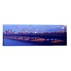 <strong>iCanvasArt</strong> Panoramic Longfellow Bridge, Charles River, Boston, Suffolk County, Massachusetts Photographic Print on Canvas