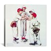 <strong>iCanvasArt</strong> 'Choosing up (Four Sporting Boys: Baseball)' by Norman Rockwell Painting Print on Canvas