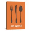iCanvasArt Kitchen Bon Appetit Graphic Art on Canvas