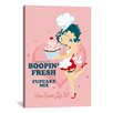 iCanvasArt Betty Boop Boopin Fresh Cupcake Graphic Art on Canvas
