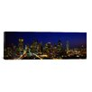 iCanvasArt Panoramic Buildings in a City Lit Up at Night, Dallas, Texas Photographic Print on Canvas