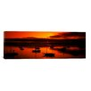 iCanvasArt Panoramic Boats in a Bay, Morro Bay, San Luis Obispo County, California Photographic Print on Canvas