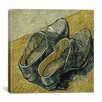 "<strong>iCanvasArt</strong> ""A Pair of Leather Clogs"" Canvas Wall Art by Vincent van Gogh"