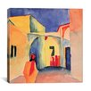"<strong>iCanvasArt</strong> ""A Glance Down an Alley"" Canvas Wall Art by August Macke"