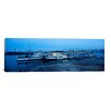 iCanvasArt Panoramic Boats Moored at a Harbor, Memphis, Mississippi River, Tennessee Photographic Print on Canvas