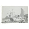 iCanvasArt 'Boats in the Harbour at Dover' by Joseph William Turner Painting Print on Canvas