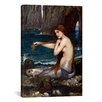 iCanvas 'A Mermaid' by John William Waterhouse Painting Print on Canvas