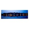 iCanvas Panoramic Boathouse Row Lit up at Dusk, Philadelphia, Pennsylvania Photographic Print on Canvas