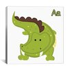 iCanvas Kids Art A is for Aligator Graphic Canvas Wall Art