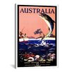 <strong>iCanvasArt</strong> Australia (Great Barrier Coral Reef) Vintage Advertisement on Canvas