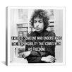 <strong>iCanvasArt</strong> Bob Dylan Quote Canvas Wall Art