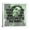 iCanvasArt Bob Marley Quote Canvas Wall Art
