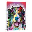 iCanvas 'Australian Shepherd' by Dean Russo Graphic Art on Canvas
