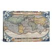 iCanvas Antique Map of The World 1570 Canvas Print Wall Art