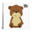 iCanvasArt Kids Art B is for Bear Graphic Canvas Wall Art
