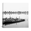 "<strong>iCanvasArt</strong> ""Boats in Lake"" Canvas Wall Art by Harold Silverman"