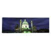 iCanvasArt Panoramic Austria, Vienna, Facade of St. Charles Church Photographic Print on Canvas