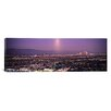 iCanvas Panoramic Buildings in a City Lit Up at Dusk, Hollywood, San Gabriel Mountains, Los Angeles County, California Photographic Print on Canvas