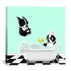 iCanvas Bath Tub BT by Brian Rubenacker Graphic Art on Canvas