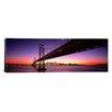iCanvasArt Panoramic Bay Bridge San Francisco, California Photographic Print on Canvas