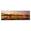 iCanvas Panoramic Buildings in a City Lit Up at Dusk, Cincinnati, Ohio Photographic Print on Canvas