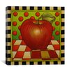"iCanvas ""Be Bop a Lula Apple"" Canvas Wall Art by Shelly Bedsaul"
