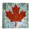 iCanvas Canadian Flag, Maple Leaf #6 Graphic Art on Canvas