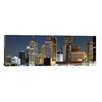 iCanvas Panoramic Buildings in a City Lit Up at Night, Detroit River, Detroit, Michigan Photographic Print on Canvas