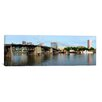 iCanvas Panoramic Buildings at the Waterfront, Morrison Bridge, Willamette River, Portland, Oregon, 2010 Photographic Print on Canvas