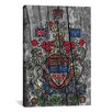 iCanvasArt Canada, Coat of Arms #7 Graphic Art on Canvas