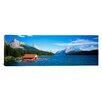 <strong>iCanvasArt</strong> Panoramic Canada, Alberta, Maligne Lake Photographic Print on Canvas
