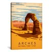 iCanvas 'Arches National Park, Utah' by Anderson Design Group Vintage Advertisement on Canvas