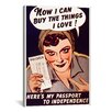 iCanvas Can't Buy Me Love Vintage Poster Canvas Print Wall Art