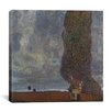 "iCanvasArt ""Approaching Thunderstorm (The Large Poplar II)"" Canvas Wall Art by Gustav Klimt"