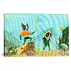 iCanvas 'Aqua Terrier Print' by Brian Rubenacker Graphic Art on Canvas