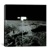 iCanvasArt Apollo TV Camera on Moon Canvas Wall Art