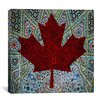 <strong>iCanvasArt</strong> Canadian Flag, Maple Leaf #4 Graphic Art on Canvas