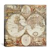 iCanvas 'Antique World Map III' by Interlitho Designs Graphic Art on Canvas