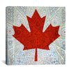 <strong>iCanvasArt</strong> Canadian Flag, Maple Leaf #5 Graphic Art on Canvas