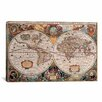 iCanvas 'Antique World Map' Graphic Art on Canvas by Henricus Hondius